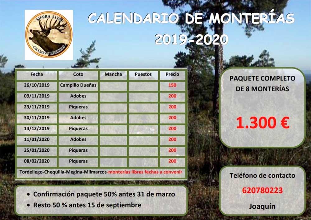 Programa Monterías Sierra Alta