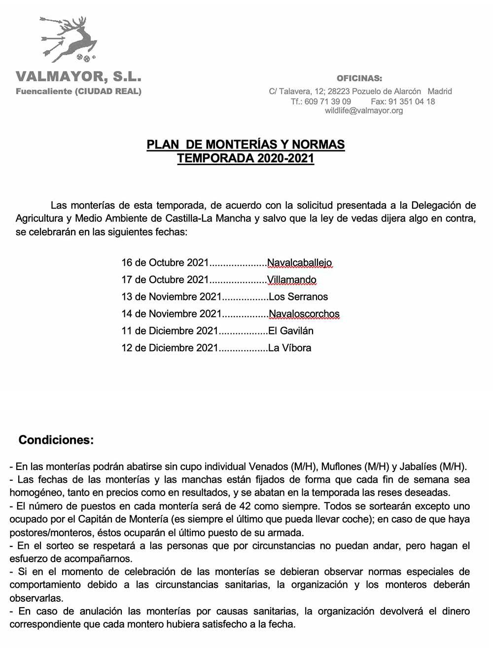 Programa Monterías Valmayor
