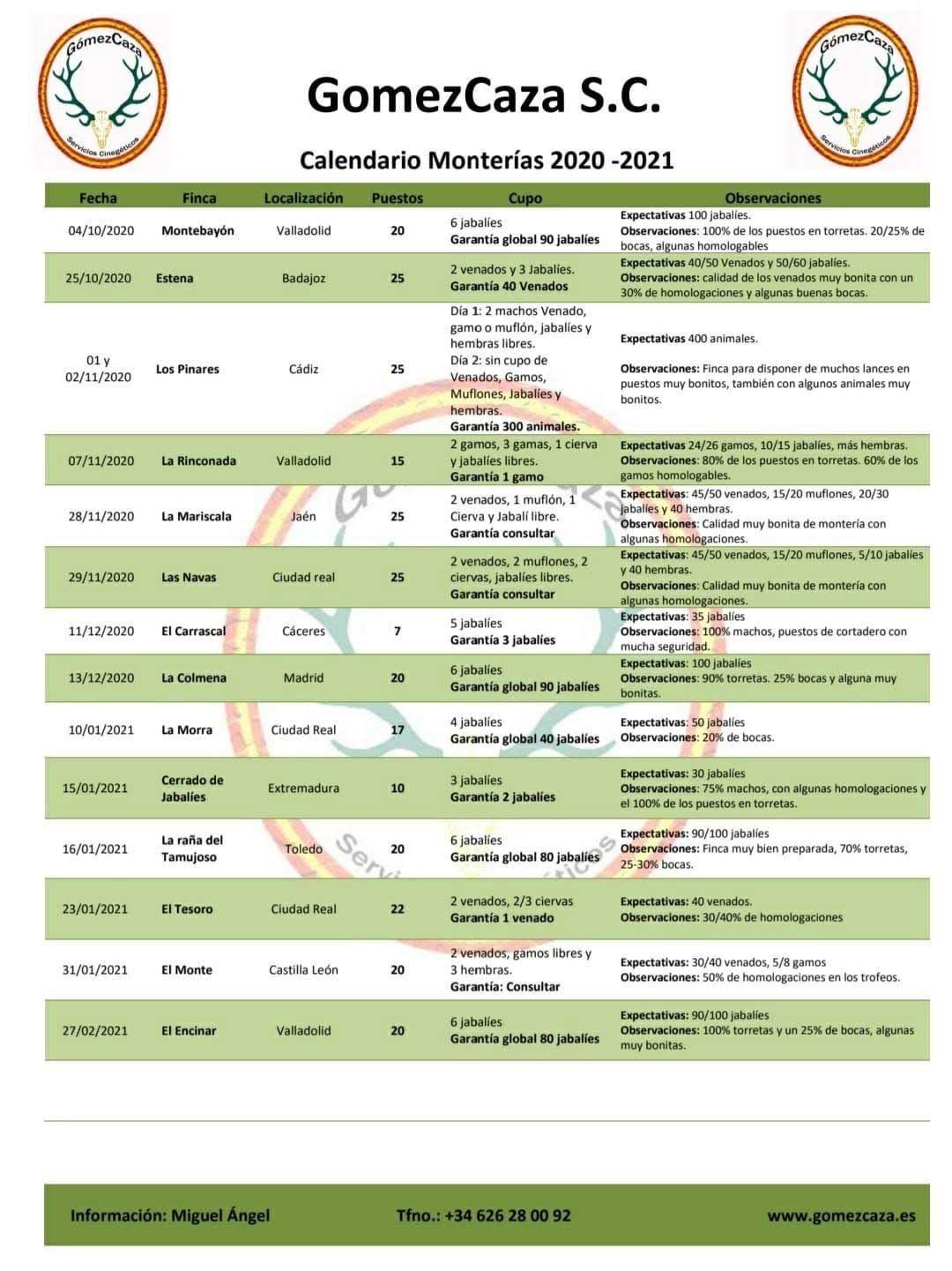Programa Monterias Gómez Caza S C
