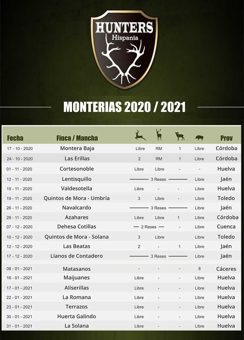 Programa Monterias Hunters Hispania