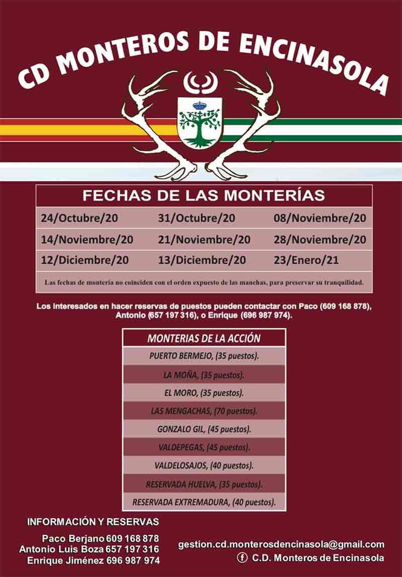 Programa Monterias Monteros de Encinasola